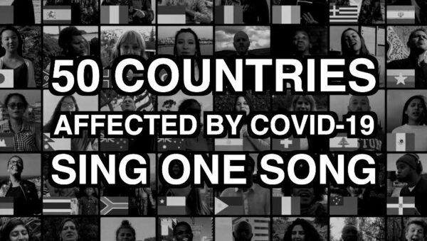 50 länder som drabbats av COVID-19 sjunger Amazing Grace