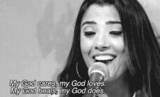 Marianne från Libanon sjunger att Jesus är enda källan till frid